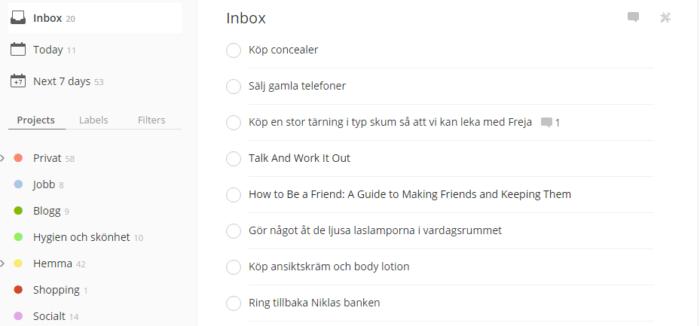 Todoist inbox