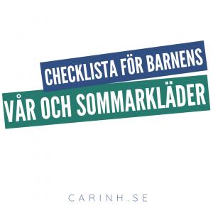 Checklista vår och sommar